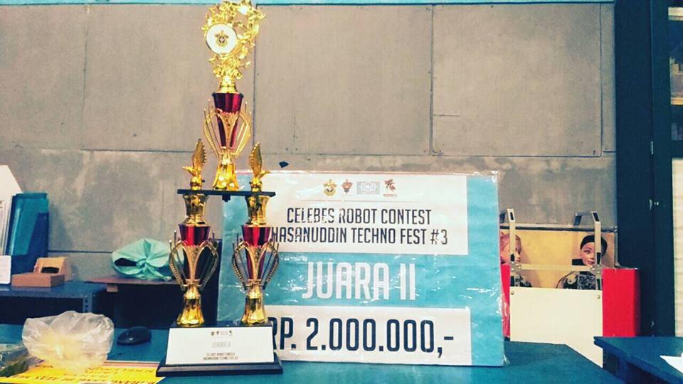 Tim Robot CMCS Mesin Raih Juara 2 di Celebes Robot Contest 2018