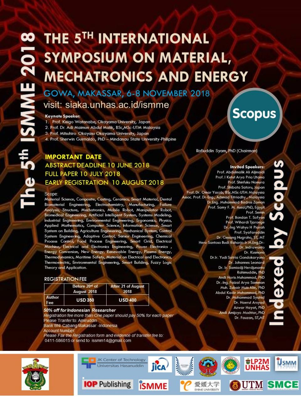 The 5th International Symposium on Material, Mechatronics and Energy 2018