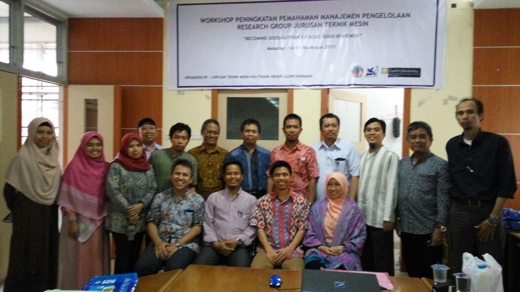 Workshop Peningkatan Pemahaman Manajemen Pengelolaan Research Group Teknik Mesin PNUP
